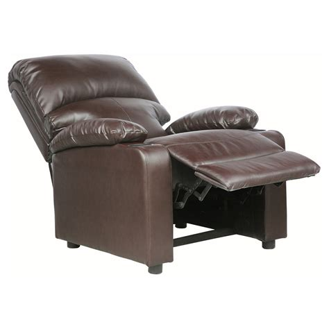 armchair drink holder kino real leather recliner w drink holders armchair sofa