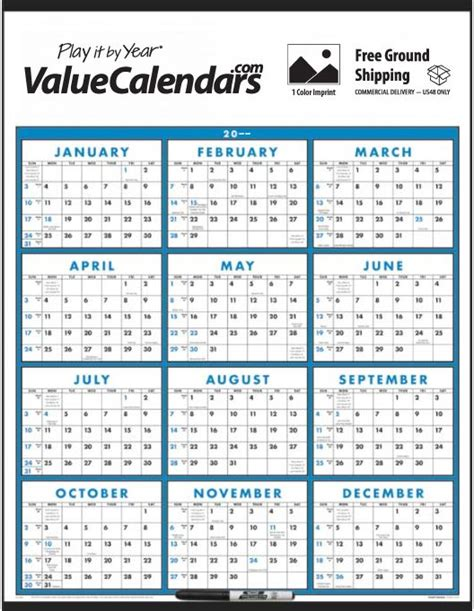 2017 Year To View Calendar 2017 Span A Year Laminated Calendar 22 Quot X 29