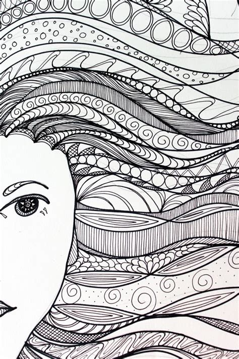 hair pattern drawing zentangle patterns for beginners bing images zentangle