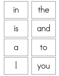 sight word template word cards pin by lintz on sight words