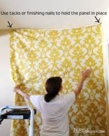 how to drape a wall with fabric 25 best ideas about fabric covered walls on