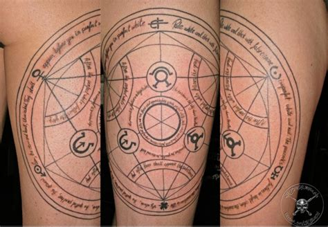 transmutation circle tattoo in love legitimately