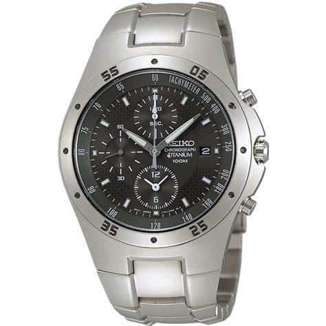 Seiko Chronograph Titanium seiko quartz snd419p1 horloge ean 4954628004741