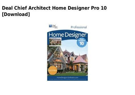 chief architect home designer pro 10 download