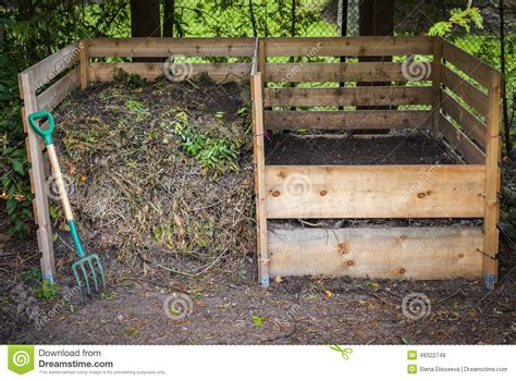 backyard composting bins backyard compost bins stock photo image 49322749
