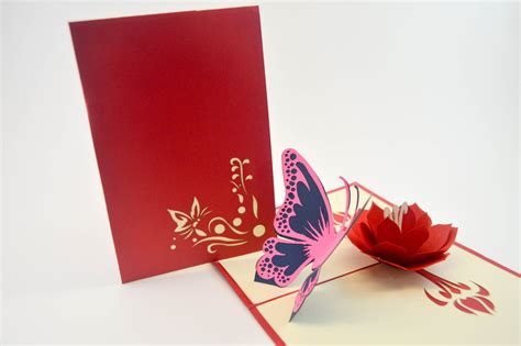 pop up greeting cards greeting card butterfly card pop up card 3d