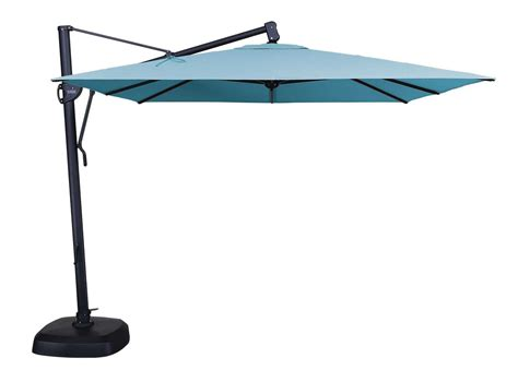 Industrial Patio Umbrellas Treasure Garden Cantilever 10 Square Tilt Lock Offset