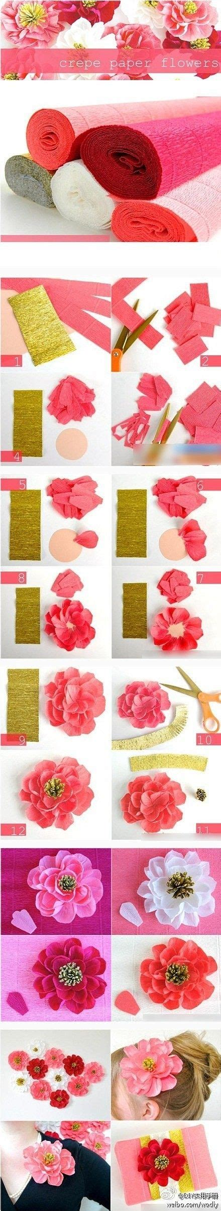 Things To Make With Crepe Paper - crepe paper flowers crafts