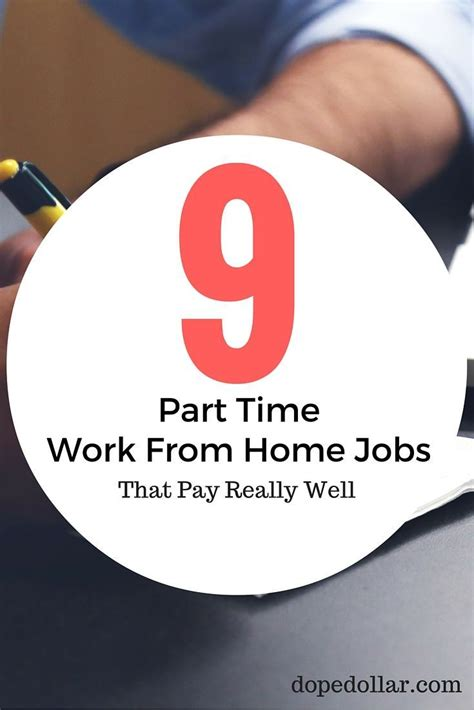 9 legitimate part time work from home dope dollar