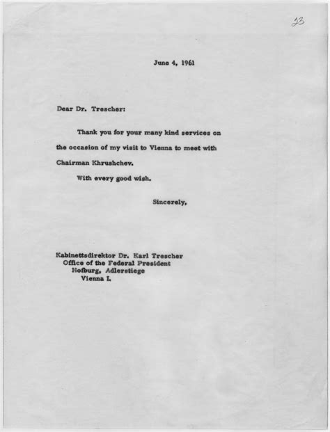 file thank you letter from f kennedy june 4 1961
