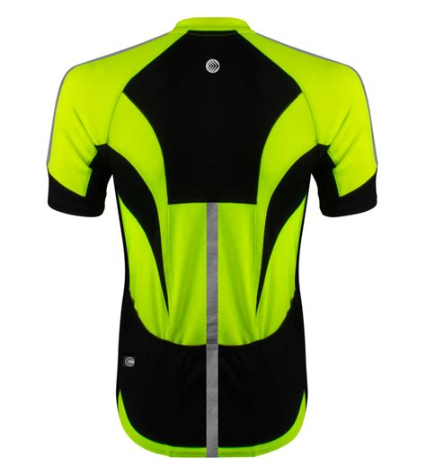 reflective bicycle high vis reflective cycling jersey made for visibility