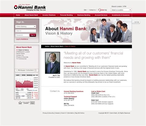 hanmi bank careers hanmi bank website 2011 by albert at coroflot
