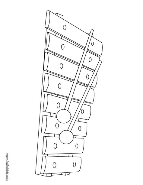 printable xylophone pictures 13 coloring for kindergarten musical instrument pages