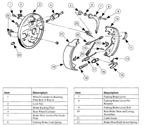 ford drum brake diagram 1999 e150 need the rear drum brake diagram i bought it and