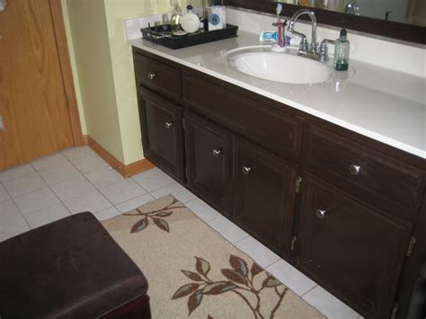 stain bathroom cabinets staining white bathroom cabinets darker scandlecandle com