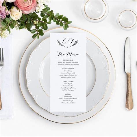 wedding dinner menu card template rustic wedding menu wedding menu template printable