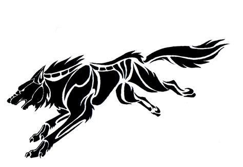 tribal wolf tattoo design european design wolf tribal tattoos designs