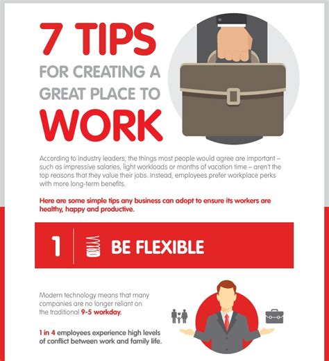 7 Tips For Great Photos by 7 Tips For Creating A Great Place To Work Infographic