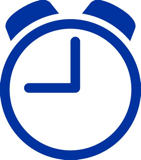 Clock Clipart Free blue clock clip at clker vector clip royalty free domain