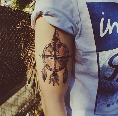 dreamcatcher compass tattoo world map dream catcher compass tattoos pinterest