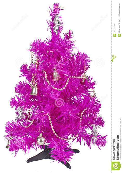 small pink tree small pink tree with decorations stock image