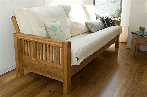 futon company sale 3 seater sofa bed in solid oak futon company