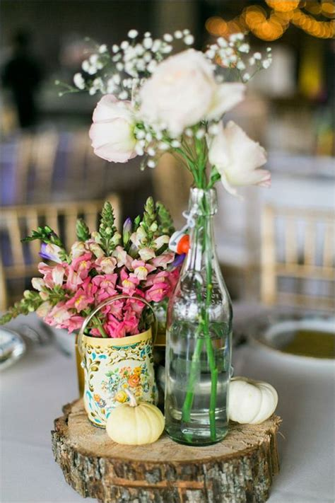 centerpiece for shabby chic and glam wedding wedding table centerpieces