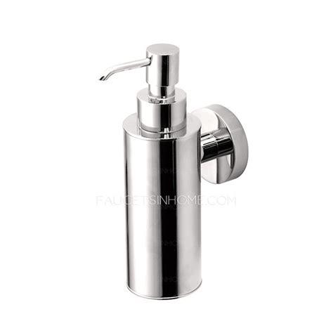 Promo Dispenser Sabun Cair Chrome Promo wholesale silver chrome wall mounted bathroom soap dispenser