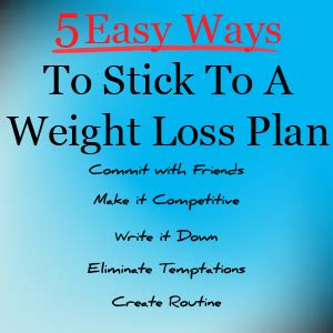 weight management support groups 5 easy ways to stick to a weight loss plan joefitness