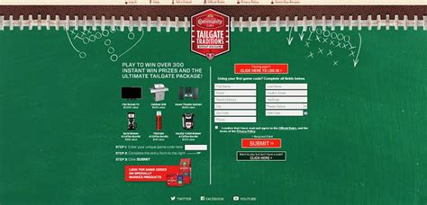 Tailgate Traditions Sweepstakes - ccctailgatetraditions com community coffee tailgate traditions promotion