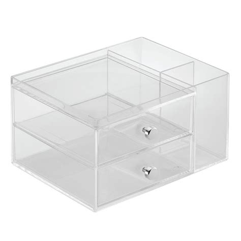 stacking drawer organizers interdesign clarity stacking drawers with side organizer