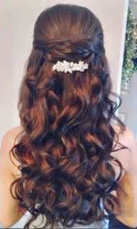 Hairstyles With Curls by Quinceanera Hairstyles With Curls And Tiara Hair
