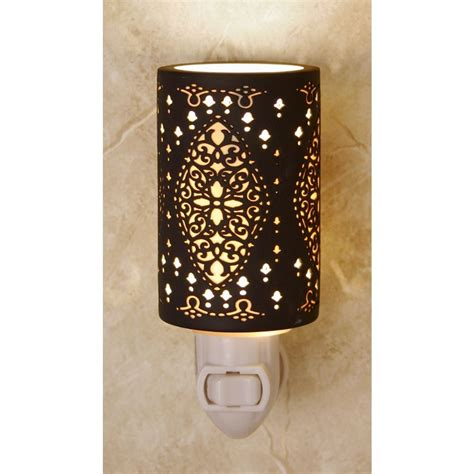 Night Light With Black Porcelain Shade Ns02