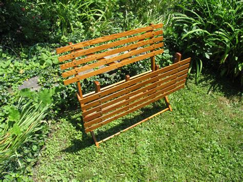 folding garden bench libbylula country arts and crafts hand made folding