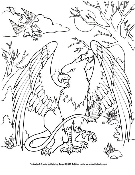 Griffin Coloring Page By Tablynn On Deviantart Griffin Coloring Pages