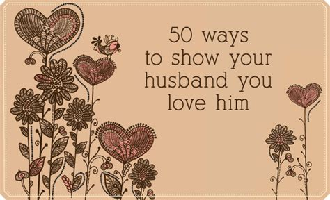 lds living 50 ways to show your husband you love him