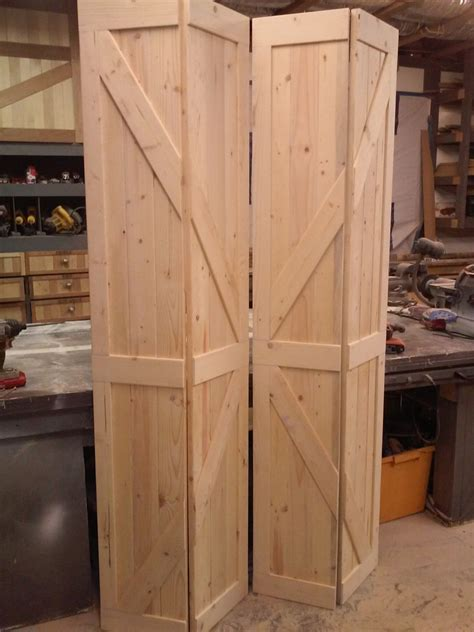 Bi Fold Barn Doors Replace Your Existing By Whitfieldwoodworks Folding Barn Door