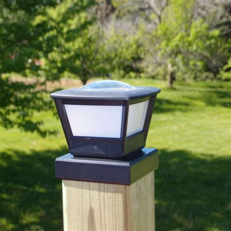 Fence Post Solar Light By Free Light 5x5 And 6x6 Post Cap