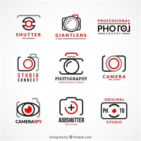 collection of photography logos vector free download