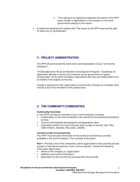 vendor rfp template rfp template 2 writing the request for rfp