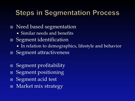 Mba Target Market Demographics by Identifying Market Segment