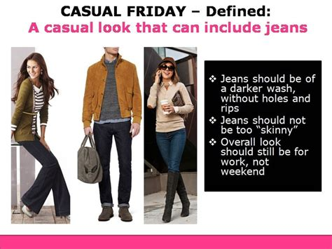 how a woman should dress on a friday night at fifty casual friday dress code defined style solutions rl
