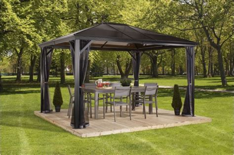 rattan pavillon verona top gazebos collections sojag