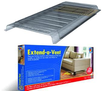 under couch heat register deflector air vent extender air flow control