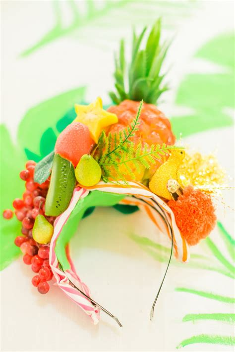fruit headdress kara s ideas tropical fourest birthday kara