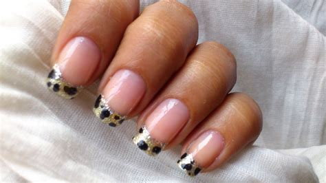 acrylic paint nail tips gold tip nail designs