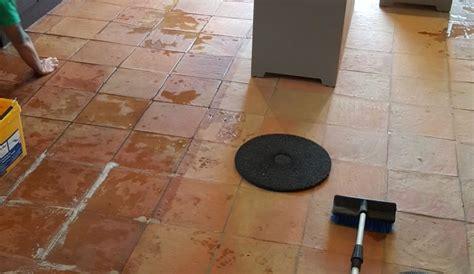 Cleaning Porous Floor Tiles by Sealing Porous Terracotta Tiles In Alderley Edge