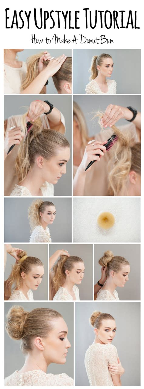 hair donuts instructions how to make a donut bun