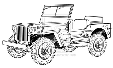 jeep drawing how to draw willys jeep