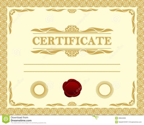 certificate template royalty free stock image image